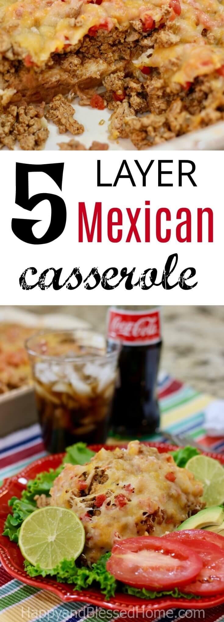 Easy Recipe for 5 Layer Mexican Casserole
