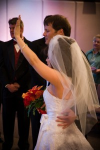 Worshipping on our wedding day