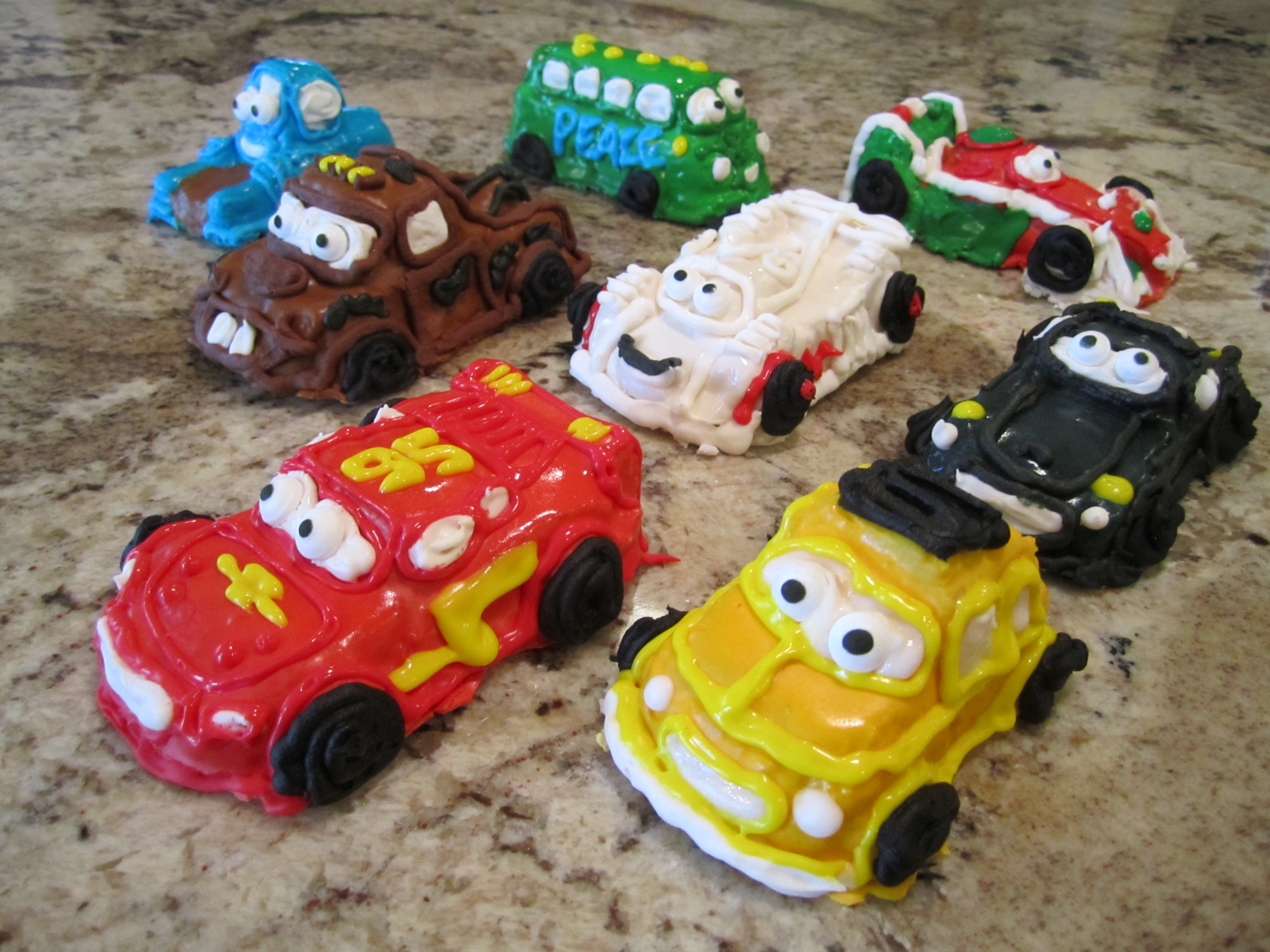 Cars Cake for a Two-Year-Old