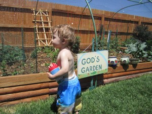 Learning about Aunt Vada's Garden