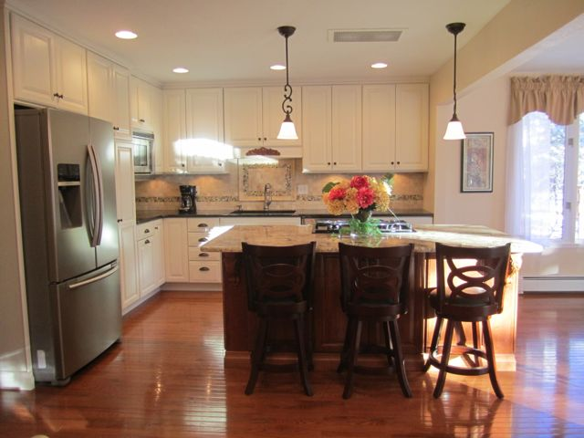 Kitchen Remodel with hardwood floors granite stainless steel and semi-custom cabinetry DR 2 from HappyandBlessedHome.com
