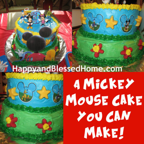 Mickey Mouse Cake Happy And Blessed Home