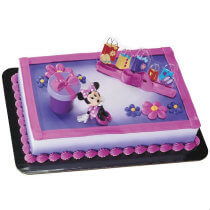 Minnie Mouse Birthday Party Cake Topper
