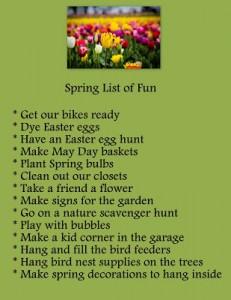 Spring List