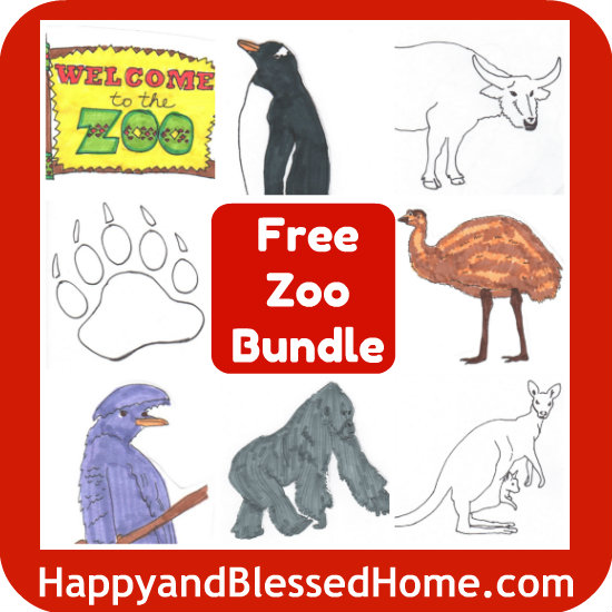 picture regarding Printable Animals titled Free of charge Printables Zoo Pets are Right here - Joyful and Fortunate Household