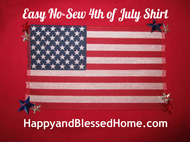 Easy No-sew 4th of July T-shirts