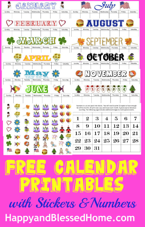graphic about Free Preschool Calendar Printables referred to as Perpetual Calendar Printables - Joyful and Fortunate Property