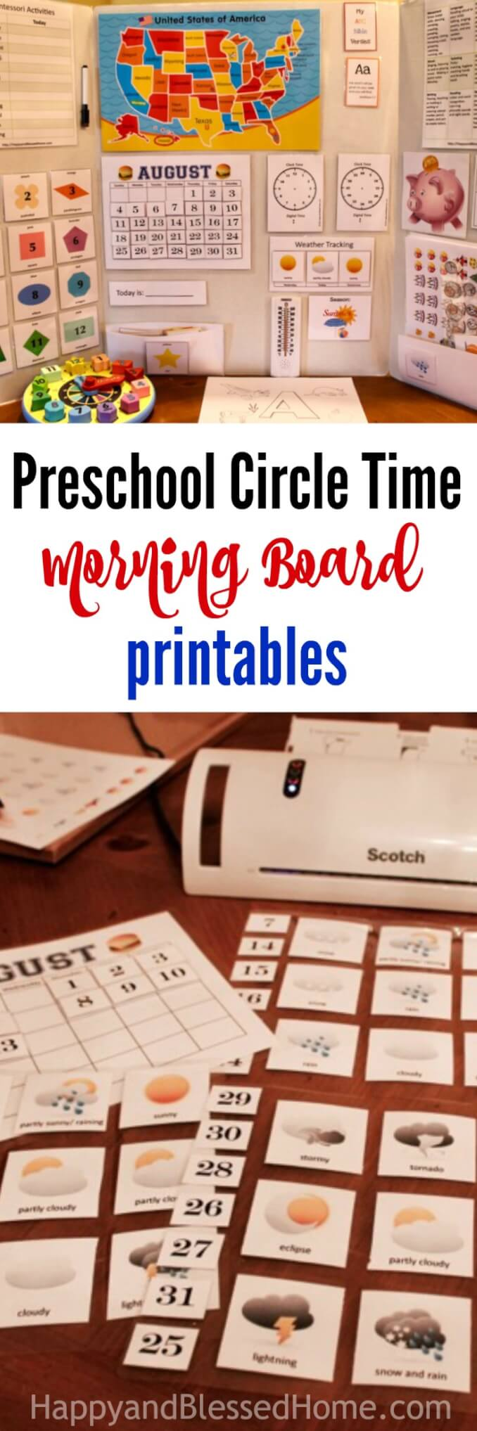 Preschool Circle Time Morning Board Printables