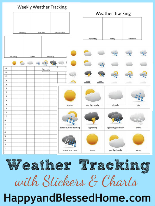 Preschool Activities - Weather Tracking - Happy and ...