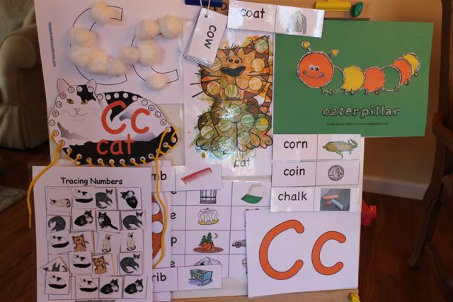 """My preschooler loves these! Perfect learning fun for preK. 5 Free Preschool Alphabet Letter C Activities comes with coloring, matching, cutting, and fine motor skill exercises. You can easily teach children and toddlers with these easy crafts, cards, and words that start with """"C""""."""