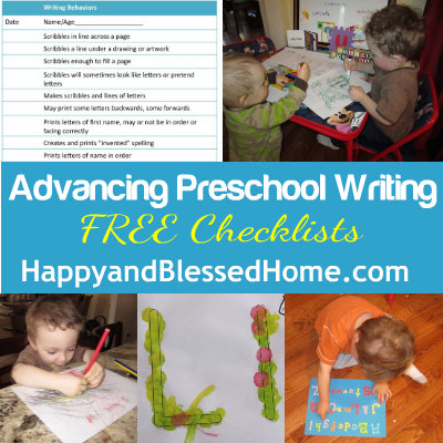 advancing-preschool-writing-free-checklists-HappyandBlessedHome.com