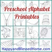 Preschool Alphabet Printables at HappyandBlessedHome.com