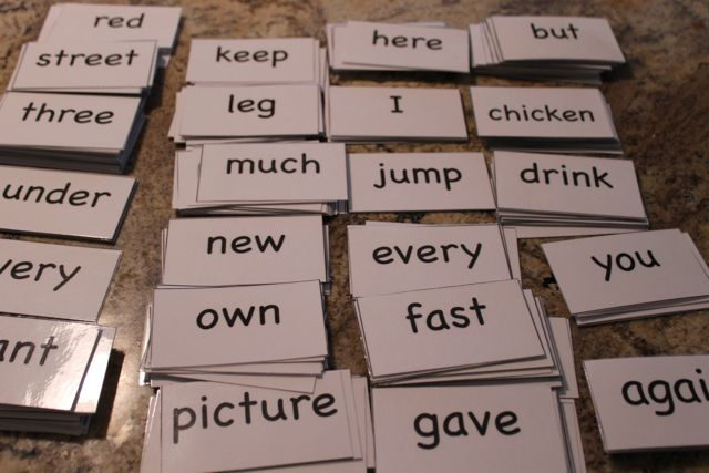 FREE Sight Words Flashcards from HappyandBlessedHome.com