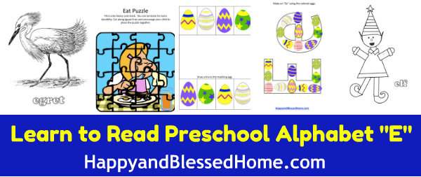 Learn-to-Read-Preschool-Alphabet-letter-e2-HappyandBlessedHome.com