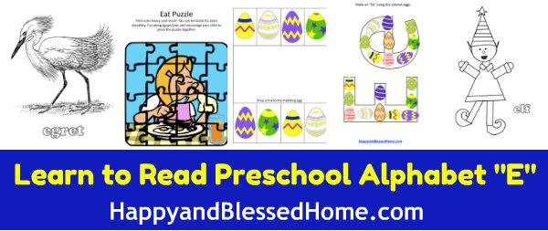 Learn-to-Read-Preschool-Alphabet-letter-e2-HappyandBlessedHome.com