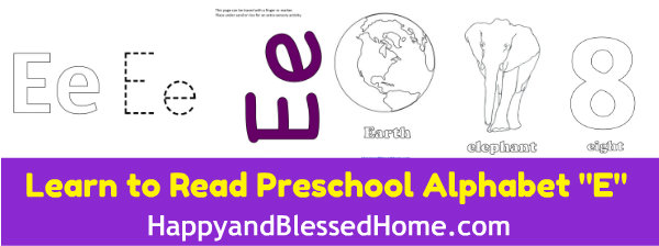 learn-to-read-preschool-alphabet-letter-e-HappyandBlessedHome.com