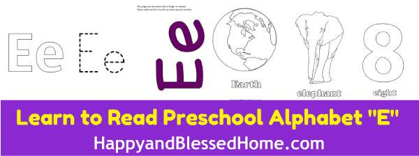 learn-to-read-preschool-alphabet-letter-e-HappyandBlessedHome.com