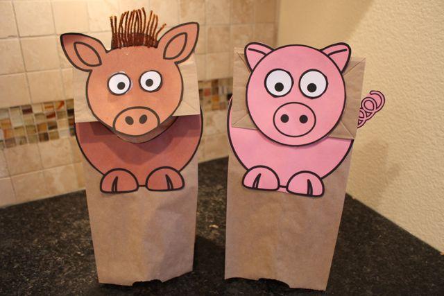 FREE Farm Animal Puppets