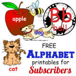 FREE Alphabet Printables at HappyandBlessedHome.com