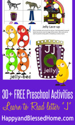 FREE Letter J Preschool Printables at HappyandBlessedHome.com
