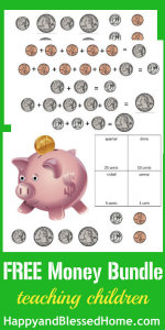 FREE Counting Money Printable Worksheets at HappyandBlessedHome.com