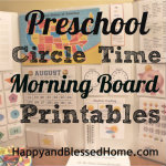 FREE Morning Board Printables at HappyandBlessedHome.com