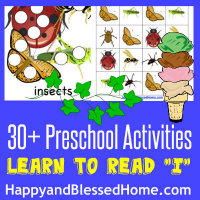 Learn to Read Preschool Alphabet Letter I at HappyandBlessedHome.com