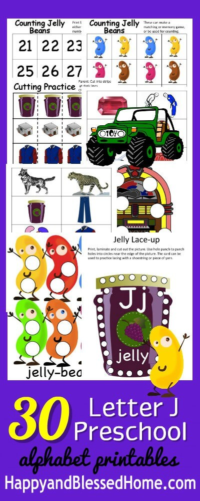 30 Letter J Preschool Alphabet Printables for the Letter J Preschool Curriculum online