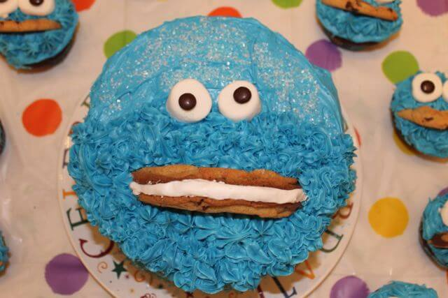 Cookie Monster Birthday Cake Photo Copyright 2014 HappyandBlessedGome.com