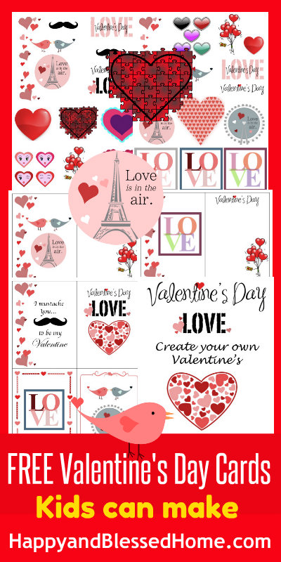 FREE Valentine\'s Day Cards Kids Can Make - Happy and Blessed Home