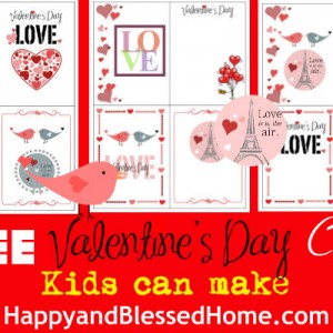 FREE Valentine's Day Cards Kids Can Make