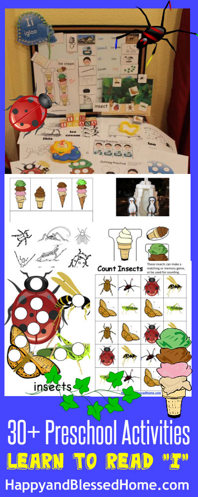 5 FREE Letter I Preschool Worksheets from HappyandBlessedHome.com