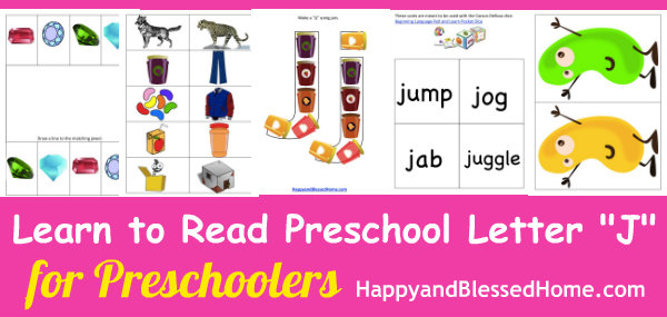 5 free preschool worksheets for preschool alphabet letter j - happy