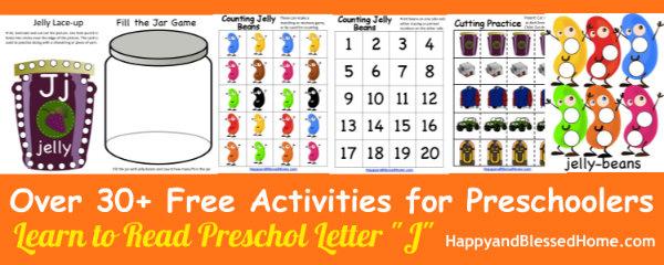 Learn to Read Preschool Letter J 3 HappyandBlessedHome.com