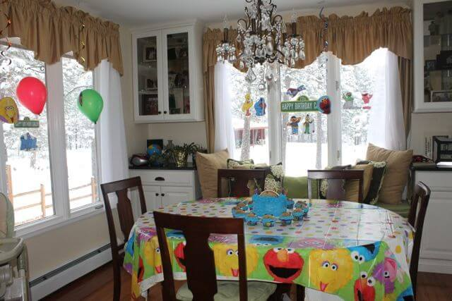 Sesame Street Birthday Party Decorations BR Photo Copyright 2014 HappyandBlessedGome.com