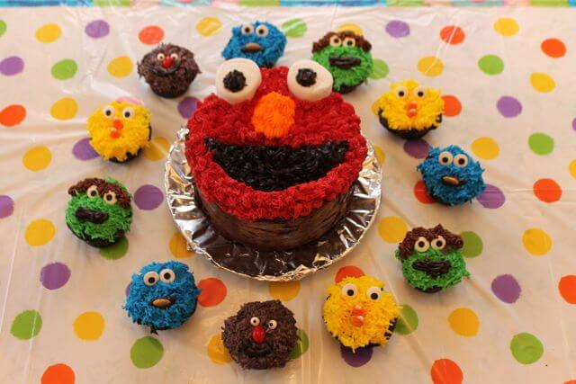 Sesame Street Cupcake Decorations