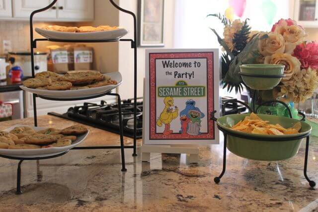 Sesame Street Birthday Party Decorations Kitchen Photo Copyright 2014 HappyandBlessedGome.com