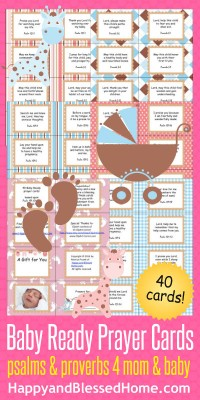 Baby Ready Prayer Cards from HappyandBlessedHome.com