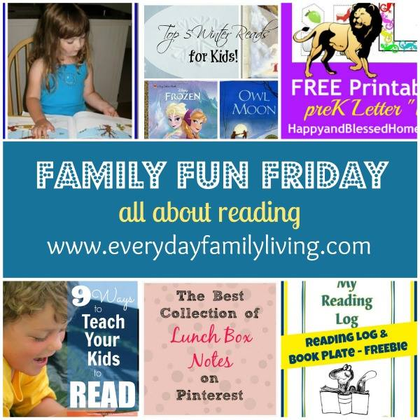 Family Fun Friday All About Reading Everyday Family Living