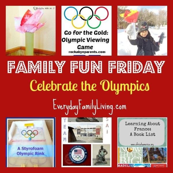 Family Fun Friday - Celebrate the Olympics HappyandBlessedHome.com