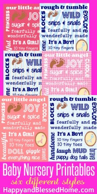 baby nursery printables HappyandBlessedHome.com