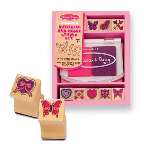 * Wooden Butterfly Stamps and two ink pads for $6.99