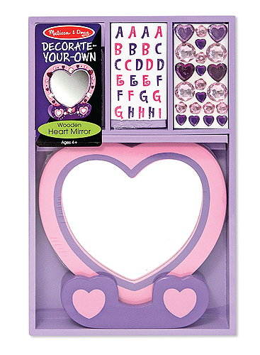 Heart Mirror with stickers and jewels for $9.99