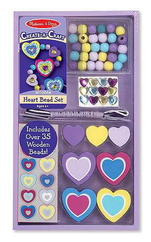 35 Wooden Heart Beads for $4.99