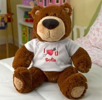 Adorable Bear and FREE Personalized T-shirt for $14.99