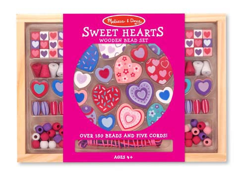 Sweet Hearts Wooden Beads $4.99 for 150+ Wooden Beads