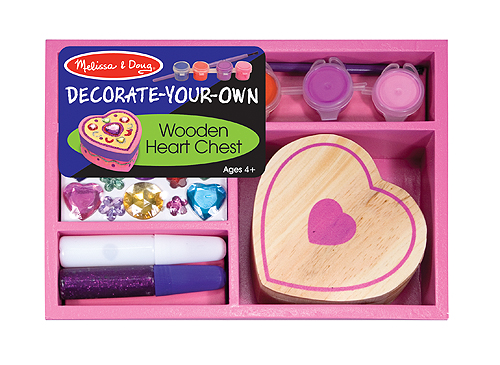 Customize and decorate your own heart chest for $6.99