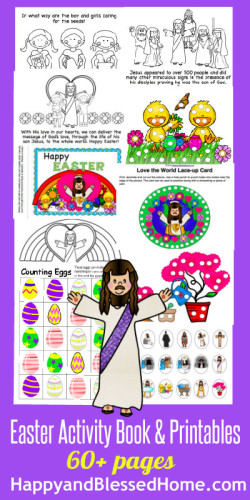 Easter Activity Book and Printables HappyandBlessedHome.com