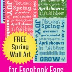 FREE Spring Inspired Wall Art