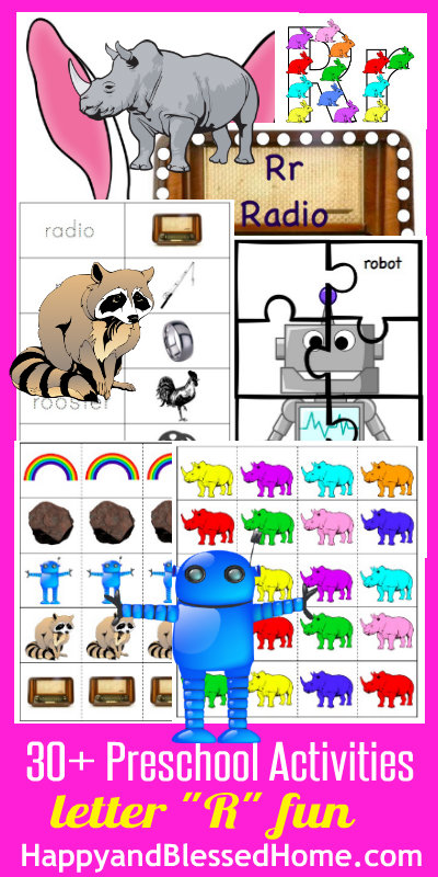 Learn to Read Preschool Alphabet Letter R HappyandBlessedHome.com